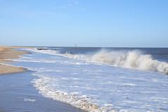 Along The Caister Coast (EJ Images) Tags: uk sea england slr water coast nikon waves nef norfolk wave coastal dslr eastanglia breakingwave breakingwaves caister 2015 nikonslr d90 norfolkcoast nikondslr nikond90 18105mmlens norfolkcoastal ejimages dsc102201