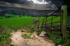 The Gateway to the West (stumpyheaton) Tags: light sky tree green field grass wales clouds landscape outside day little hills stump rays llandudno conwy orme penrhyn d5100