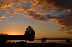 Coucher de soleil à Taupo