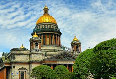 St.Isaac's cathedral in St.Petersburg, Russia (jackfre2) Tags: stpetersburg cathedral russia dome cathedralstisaac platedwithpuregold plateddome
