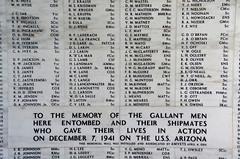 USS Arizona Memorial (sarowen) Tags: hawaii memorial oahu pearlharbor marble names ussarizona honoluluhi ussarizonamemorial honoluluhawaii wwiivalorinthepacificnationalmonument