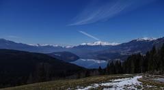 Aussicht + Spiegelung (eulenbilder) Tags: schnee see wasser wolken berge aussicht spiegelung millstättersee mirnock eulenbilder2015