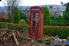 (Zak355) Tags: red scotland phonebooth scottish phonebox bute rothesay isleofbute britishphonebox