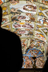 Sistine Chapel Silhouette (StevePilbrow) Tags: city eve pope vatican rome adam silhouette st 35mm francis nikon catholic basilica paintings chapel di papa february nikkor 18 catholicism michelangelo peters biblical francesco cappella sistine buonarroti sistina 2015 simoni d3200 lodovico
