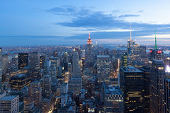 New York (Guido Barberis) Tags: new york nyc sunset apple rock night lights grande big tramonto top center rockefeller nuova mela