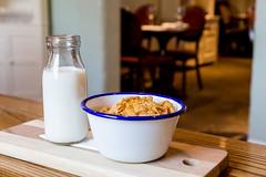 Breakfast, anyone? (Trevor Coultart) Tags: food hotel milk cornflakes whitehart crunchynutcornflakes