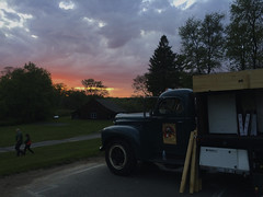 IMG_3931 (newspaper_guy Mike Orazzi) Tags: sunset sky clouds truck evening pizza watertown photostream iphone 5s campership ymcacampmataucha
