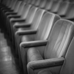 rows ( Peppedam -www.glam.vision) Tags: bw photo nikon focus theater dof chairs rows giuseppedamico
