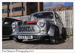 Classic Mini C123 YKK (Paul Simpson Photography) Tags: cars car sunshine honda transport mini lincoln vehicle motor parkedcar carshow britishcar motorcar brayford photosof imageof photoof imagesof sonya77 paulsimpsonphotography robinhoodminiclub april2016 c123ykk
