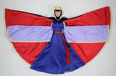 Tonner Evil Queen 16 inch Doll - Deboxed - Lying Down - Cape Fully Opened - Sleeves Spread Out - Full Front View (drj1828) Tags: doll limitededition 2010 lyingdown snowwhiteandthesevendwarfs tonner posable evilqueen 16inch le1000 deboxed