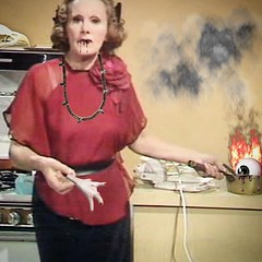 Voodoo Fanny (Flamenco Sun) Tags: weird retro chef juju bizarre voodoo chickenfoot blackmagic fannycraddock bixarre cookingwithfanny