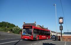Trent Barton 257, Nottingham Road, Kimberley, Notts (Lady Wulfrun) Tags: road nottingham red bus buses pub may trent barton kimberley 24th excel 2014 thestag optare nottinghamroad rainbowone y257drc trentbarton257