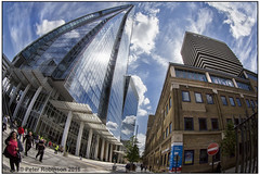Guy's Tower.......and the Shard (Antirrhinum) Tags: reflection london hospital meetup guys fisheye shard recce recky