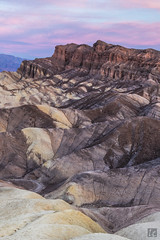 Zabriskie Point (lycheng99) Tags: california sky color nature sunrise landscape dawn nationalpark rocks colorful pattern deathvalley geology zabriskie zabriskiepoint rockformation deathvalleynationalpark colorfulsky dawncolors