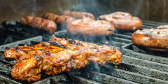 barbecue (cb.photography) Tags: party summer food essen sommer beef smoke sausage grill gas barbecue meal spareribs grillen weber rauch fleisch broil wrstchen rippchen