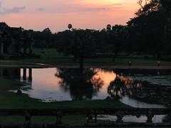 (Kelly Rene) Tags: trees sunset reflection pond cambodia southeastasia sundown angkorwat kh siemreap indochina krongsiemreap