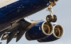 British Airways Boeing 747-400 (Aviation and Travel photography) Tags: sunset london outdoor heathrow aircraft aviation jet british boeing airways jumbo jetliner longhaul