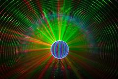 Wainbow quorbing. (stu8fish) Tags: rain night underground smoke orb tunnel laser trippy psycadellic stu8fish quorb