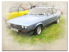 Ford Capri Drawing (Andrew2.8i) Tags: ford capri 28 injection classic car