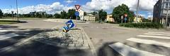 Pedestrian crossing (mrjorgen) Tags: panorama oslo norway signpost pedestriancrossing trafikk fotgjengerfelt