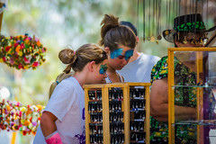 Shopping (Kevin MG) Tags: usa losangeles longbeach bigirishfaire irish faire festival ethnic girls young youth cute pretty little facepaint california child kid kids children
