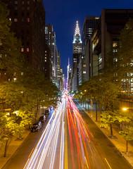 Tudor City (Nick Barese) Tags: city nyc longexposure newyork night canon dark lighttrails bluehour tudorcity canon6d canon1635lf4is