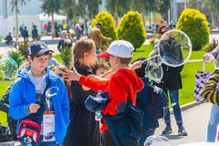 DSC_0342 (sergeysemendyaev) Tags: show children fun happy spring russia adler bubbles iridescent olympicpark sochi 2016   bigbubbles         sochiautodrom soapbubblesshow