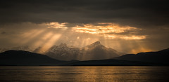 God beams (Einar Angelsen) Tags: sun sunlight clouds god beams tromso troms