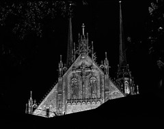 Katedrla svatho Petra a Pavla (nEjmEd) Tags: brno nightscene czechia fujineopan100acros pentax67 tetenalultrafinliquid