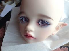 Applied lower lashes! (Saberino) Tags: lashes eyelashes bjd lower dim lash extensions applied bellosse
