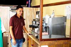Barista do Bonde Caf - (Vera Schuck Paim) Tags: street car do interior inside barista bonde strret condutor poertugus mortoneiro