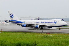 Great Wall Airlines Boeing 747-412F B-2433 (Mark Harris photography) Tags: plane canon aircraft aviation anchorage anc spotting