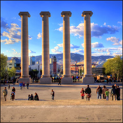 (2312) Barcelona Catalunya) (QuimG) Tags: barcelona architecture landscape golden paisaje olympus catalunya paisatge specialtouch quimg quimgranell joaquimgranell afcastell obresdart