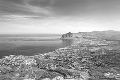 Erice (Lord Seth) Tags: 2015 d5000 erice lordseth paesaggio sicilia bw biancoenero borgo italy medievale montecofano nikon panorama