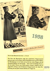 Kleppermode 1958 (hpdyko) Tags: fashion 1958 raincoat klepper regenmantel kleppermantel kleppermode