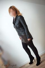 elle238 (Cuir Couple) Tags: leather bondage skirt bdsm master jacket jupe mistress veste leder matre pant pantalon cuero cuir hosen cravache maitresse martinet cuissardes