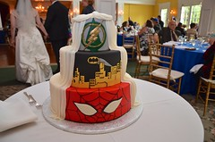 Superhero Wedding Cake (Joe Shlabotnik) Tags: flash spiderman 2016 batman cake july2016 afsdxvrzoomnikkor18105mmf3556ged faved