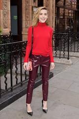 Kiernan Shipka in vinyl pants (Plastic Fashion!) Tags: girls fashion clothing women pants vinyl wear plastic actress pvc shipka kiernan