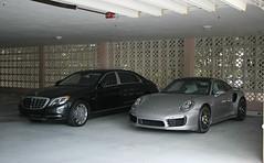 Porsche 911 Turbo S (991), Mercedes-Maybach S600 (RudeDude2140a) Tags: black sports car sedan silver 911 s exotic turbo porsche mercedesbenz luxury coupe supercar 991 maybach s600 mercedesmaybach w222