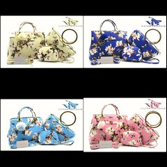 Import @225 Bag Victoria B 7816 3in1 33x23x14cm 1kg Kulit #Flower#SemiPremium#Babyblue#Apricot#Blue#Pink (merboutique) Tags: pink blue flower apricot babyblue semipremium