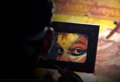 """A LOOK INTO THE PAST"" (GOPAN G. NAIR [ GOPS Photography ]) Tags: gops gopsorg gopsphotography gopangnair gopan photography kathakali peek stare mirror rear view past art folk india kerala"
