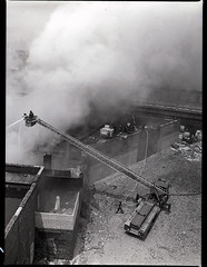 20160616-fdny-throwback-thurs-1981002 (Official New York City Fire Department (FDNY)) Tags: york nyc rescue building water truck vintage fire bronx smoke flames collapse ladder firefighting firefighter 1980s fdny tbt new city fire engine truck thursday suppression throwback