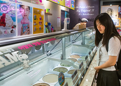 North korean teen defector in an ice cream shop, National capital area, Seoul, South korea (Eric Lafforgue) Tags: woman cold shop horizontal female asian foods store cool women colorful asia flavor counter refugee cream freezing indoors icecream seoul teenager cooler southkorea youngadult oneperson specialty defector 1819years northkorean 1617years waistup 1people nationalcapitalarea colourpicture koreanscript koreanethnicity sk162386