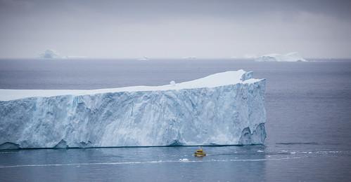 Boat outside Ilulissat, Greenland