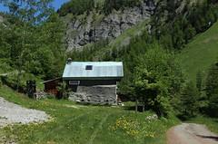 Lousine (bulbocode909) Tags: nature suisse vert bleu arbres printemps chalets valais montagnes chemins lousine