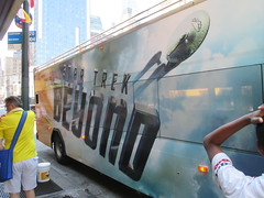 Star Trek Beyond - The Bus 2173 (Brechtbug) Tags: show street new york city nyc fiction bus film television trek computer movie poster star tv jj theater mr theatre manhattan district space rip ad broadway science double billboard midtown sidewalk ave captain spock scifi series beyond anton 1960s avenue abrams 8th futuristic kirk generated 45th decker the 2016 standee standees yelchin 07042016
