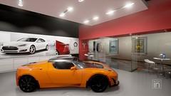 Tesla store in Unreal Engine 4 (Sim Racing Georgia) Tags: store 4 engine unreal tesla