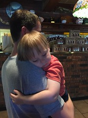 "Paul Sleeps on Daddy at Smokehouse BBQ • <a style=""font-size:0.8em;"" href=""http://www.flickr.com/photos/109120354@N07/27821708706/"" target=""_blank"">View on Flickr</a>"