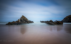Out of this world (Mika Laitinen) Tags: canon7dmarkii europe leefilters portugal tokina1116mm cloud landscape longexposure nature ocean outdoor rock sea seascape shore sky water wideangle beja pt leendgrad leebigstopper beach sand