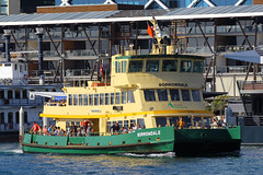 Borrowdale, Darling Harbour, Sydney, September 14th 2014 (Suburban_Jogger) Tags: water ferry canon boat spring ship sydney australia september newsouthwales darlingharbour 70200mm 2014 borrowdale sydneyferries firstfleetclass 60d
